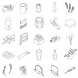 Beer set icons Royalty Free Stock Photography
