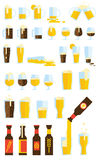 Beer Set. A set of 34 beer-related icons Royalty Free Stock Photo