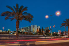 Beer-Sheva, the central street name Ruger, hospital complex. Medical center named Moshe Magpies - Hospital in the Israeli city of Beersheba, the main hospital Royalty Free Stock Images