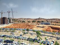 Ground excavation for foundation of Gav Yam Negev 4 and 5 royalty free stock photos