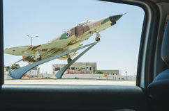 Beer-Sheva, ISRAEL , July 25,Monument - military fighter in full size 2015 in Israel Royalty Free Stock Images