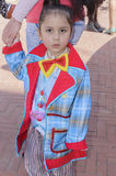 Beer-Sheva, ISRAEL - March 5, 2015: A child in a jacket clown without makeup Royalty Free Stock Image