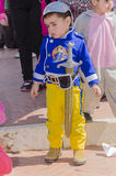 Beer-Sheva, ISRAEL - March 5, 2015: Toddler dressed as Disney character with a sword Stock Photo