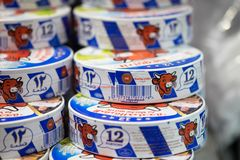 Free BEER-SHEVA, ISRAEL - MAY 5, 2018: A Boxes Of `La Vache Qui Rit` - Laughing Cow Cheese Spread Royalty Free Stock Image - 126882576