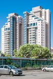 BEER-SHEVA, ISRAEL- MAY 10, 2014: New residential buildings on R Royalty Free Stock Photography