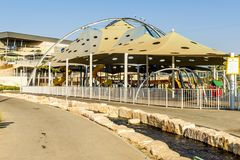 Children`s playground in the landscape park of Beer Sheva Royalty Free Stock Image