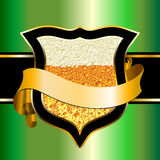Beer shield Royalty Free Stock Images
