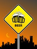 Beer sign Royalty Free Stock Photos