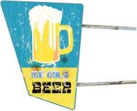 Beer sign. Vintage beer or bar sign, illustration Stock Images