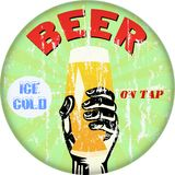 beer sign, illustration Royalty Free Stock Photography