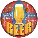 Beer sign Royalty Free Stock Photography