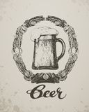 Beer. Sketch oktoberfest festival. Hand-drawn vector illustration