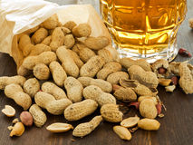 Beer and snack Royalty Free Stock Photography