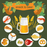 Beer snack  infographics Royalty Free Stock Image