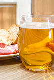 Beer with snack royalty free stock images