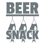 Beer snack logo, simple gray style Stock Images