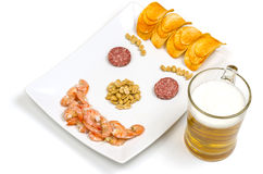 Beer snack Smile Stock Photography