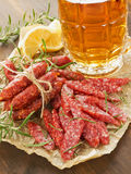 Beer and snacks Royalty Free Stock Photos