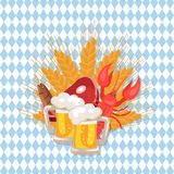 Beer and Snacks at Octoberfest Vector Illustration Stock Photo