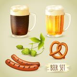 Beer and snacks set Stock Photo
