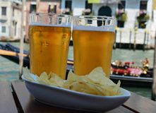 Beer snacks in Venice Royalty Free Stock Image