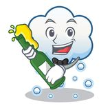With beer snow cloud character cartoon Stock Photography