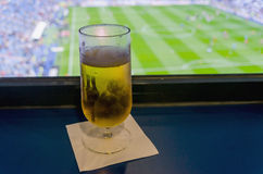 Beer and soccer Royalty Free Stock Photography