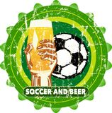 beer / soccer  sign, Stock Photo