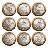 Beer (or soda) cans isolated on white Stock Photos