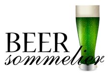 Beer sommelier banner Royalty Free Stock Photo