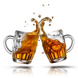 Beer splash in glass isolated Royalty Free Stock Image