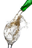 Beer splash in a glass Royalty Free Stock Photo