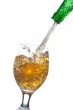 Beer splash in a glass Royalty Free Stock Image