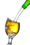 Beer splash in a glass Stock Images