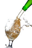 Beer splash in a glass Royalty Free Stock Photography