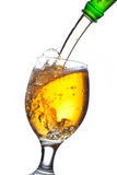 Beer splash in a glass Royalty Free Stock Photos