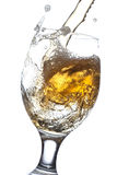 Beer splash in a glass Stock Photography