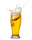 Beer splash Stock Photos