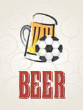 Beer and sport Royalty Free Stock Image