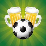 Beer and sport Stock Photography