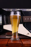 Beer on stage Stock Photography