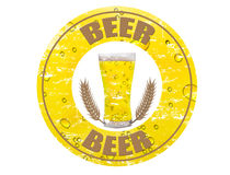 Beer stamp Royalty Free Stock Photography