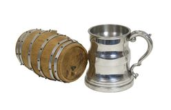 Beer Stein and Barrel Stock Image