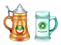 Beer steins Stock Photos