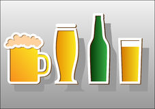 Beer stickers. Royalty Free Stock Photography