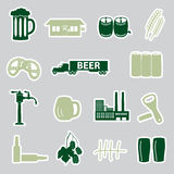 Beer stickers set eps10 Royalty Free Stock Images