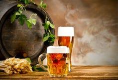 Beer still life Stock Image