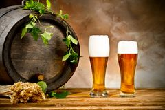 Beer still life Royalty Free Stock Photography