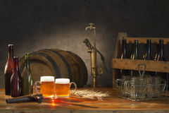 Beer still life Stock Image
