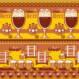 Beer striped background Stock Photography